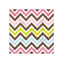 Chevrons Stripes Colors Background Acrylic Tangram Puzzle (4  X 4 )