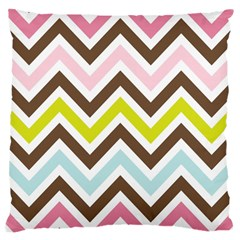 Chevrons Stripes Colors Background Large Cushion Case (two Sides)