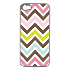 Chevrons Stripes Colors Background Apple Iphone 5 Case (silver)