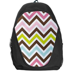 Chevrons Stripes Colors Background Backpack Bag