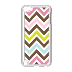 Chevrons Stripes Colors Background Apple Ipod Touch 5 Case (white)