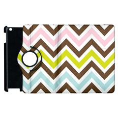 Chevrons Stripes Colors Background Apple Ipad 3/4 Flip 360 Case