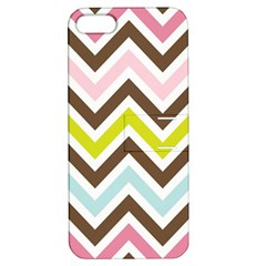 Chevrons Stripes Colors Background Apple Iphone 5 Hardshell Case With Stand