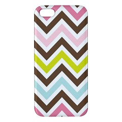Chevrons Stripes Colors Background Apple Iphone 5 Premium Hardshell Case
