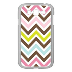 Chevrons Stripes Colors Background Samsung Galaxy Grand Duos I9082 Case (white)
