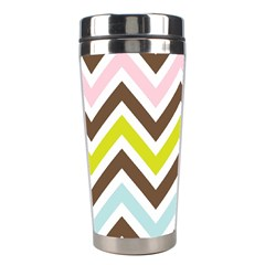 Chevrons Stripes Colors Background Stainless Steel Travel Tumblers