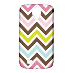 Chevrons Stripes Colors Background Samsung Galaxy S4 Classic Hardshell Case (pc+silicone)