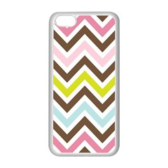 Chevrons Stripes Colors Background Apple iPhone 5C Seamless Case (White)