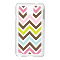 Chevrons Stripes Colors Background Samsung Galaxy Note 3 N9005 Case (white)