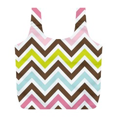 Chevrons Stripes Colors Background Full Print Recycle Bags (l)