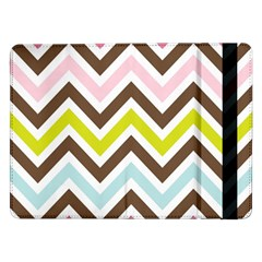 Chevrons Stripes Colors Background Samsung Galaxy Tab Pro 12 2  Flip Case