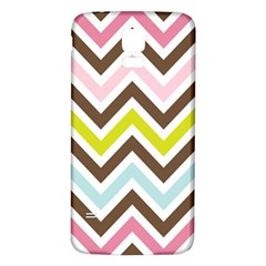 Chevrons Stripes Colors Background Samsung Galaxy S5 Back Case (white)