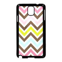 Chevrons Stripes Colors Background Samsung Galaxy Note 3 Neo Hardshell Case (black)