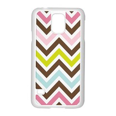 Chevrons Stripes Colors Background Samsung Galaxy S5 Case (white)