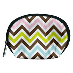 Chevrons Stripes Colors Background Accessory Pouches (medium)