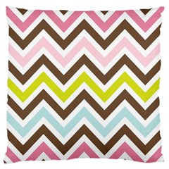 Chevrons Stripes Colors Background Standard Flano Cushion Case (two Sides)