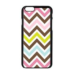 Chevrons Stripes Colors Background Apple Iphone 6/6s Black Enamel Case