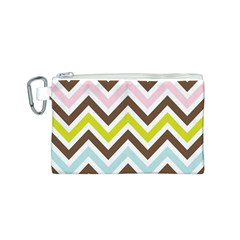 Chevrons Stripes Colors Background Canvas Cosmetic Bag (s)