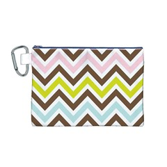Chevrons Stripes Colors Background Canvas Cosmetic Bag (m)