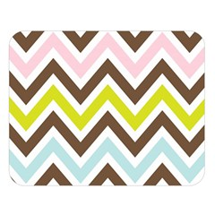 Chevrons Stripes Colors Background Double Sided Flano Blanket (large)