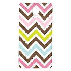 Chevrons Stripes Colors Background Galaxy Note 4 Back Case