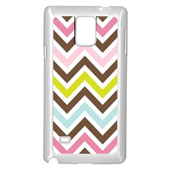 Chevrons Stripes Colors Background Samsung Galaxy Note 4 Case (white)
