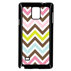 Chevrons Stripes Colors Background Samsung Galaxy Note 4 Case (black)
