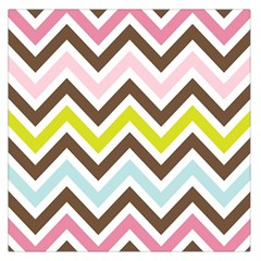 Chevrons Stripes Colors Background Large Satin Scarf (square)