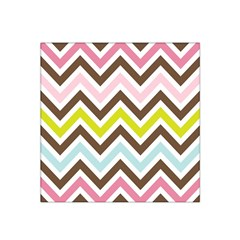 Chevrons Stripes Colors Background Satin Bandana Scarf