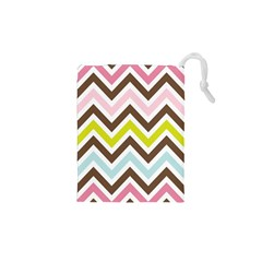 Chevrons Stripes Colors Background Drawstring Pouches (xs)