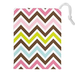 Chevrons Stripes Colors Background Drawstring Pouches (xxl)