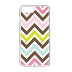 Chevrons Stripes Colors Background Apple Iphone 7 Plus White Seamless Case