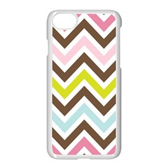 Chevrons Stripes Colors Background Apple Iphone 7 Seamless Case (white)