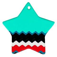 Pattern Digital Painting Lines Art Ornament (Star)