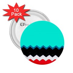 Pattern Digital Painting Lines Art 2.25  Buttons (10 pack)