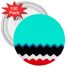 Pattern Digital Painting Lines Art 3  Buttons (100 Pack)