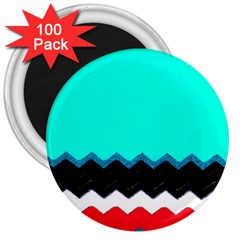 Pattern Digital Painting Lines Art 3  Magnets (100 Pack)