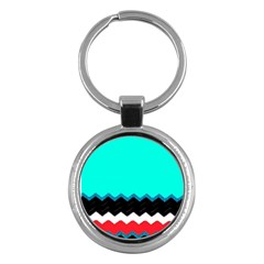 Pattern Digital Painting Lines Art Key Chains (Round)