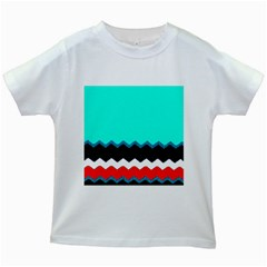 Pattern Digital Painting Lines Art Kids White T Shirts