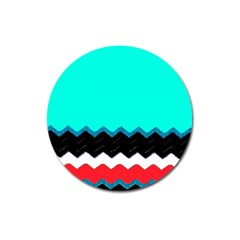 Pattern Digital Painting Lines Art Magnet 3  (round)