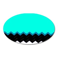 Pattern Digital Painting Lines Art Oval Magnet