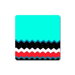 Pattern Digital Painting Lines Art Square Magnet