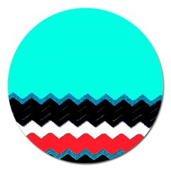 Pattern Digital Painting Lines Art Magnet 5  (round)