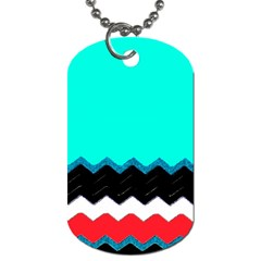 Pattern Digital Painting Lines Art Dog Tag (one Side)