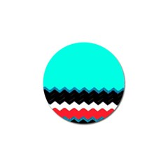 Pattern Digital Painting Lines Art Golf Ball Marker