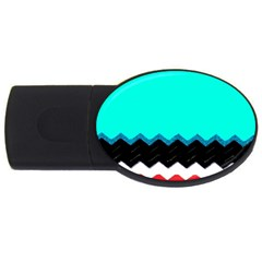 Pattern Digital Painting Lines Art Usb Flash Drive Oval (2 Gb)