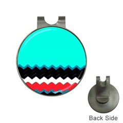 Pattern Digital Painting Lines Art Hat Clips With Golf Markers