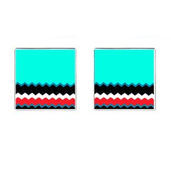Pattern Digital Painting Lines Art Cufflinks (square)