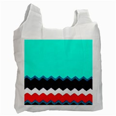 Pattern Digital Painting Lines Art Recycle Bag (two Side)