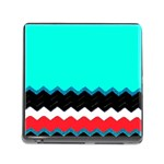 Pattern Digital Painting Lines Art Memory Card Reader (Square) Front